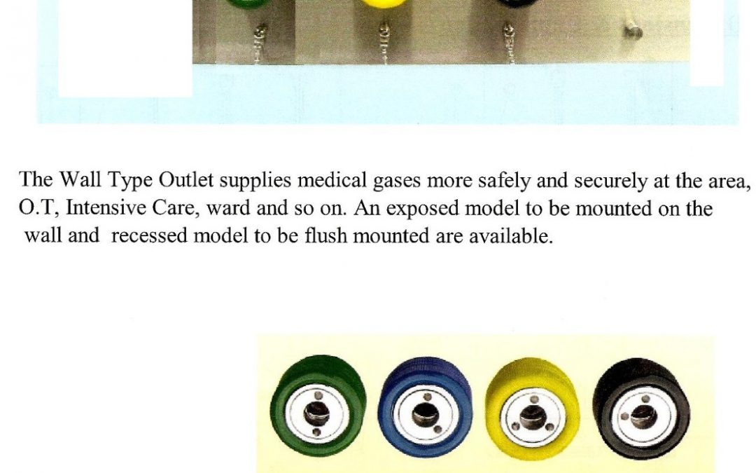 MEDICAL GAS WALL TYPE OUTLET (MERK KOMATSU)