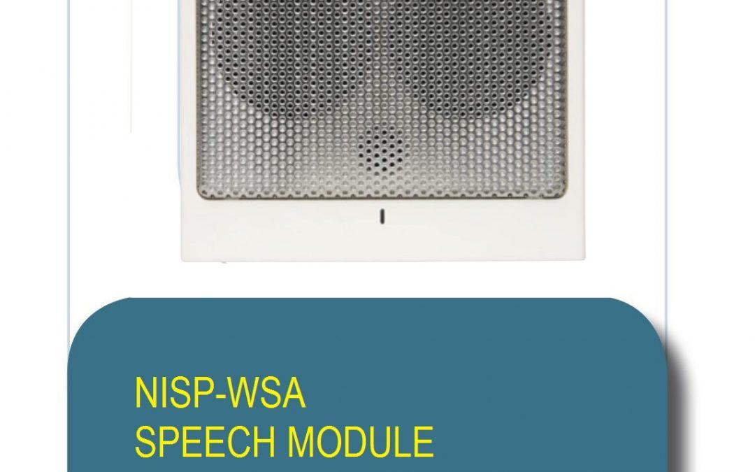 NURSE CALL SOLUTION  NISP-WSA SPEECH MODULE